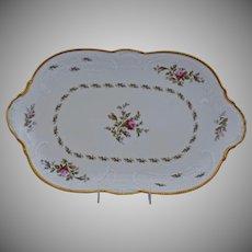 Rosenthal Sanssouci Porcelain Medium Serving Platter Ivory Rose Pastorale 15.25 by 9.50 Inches.