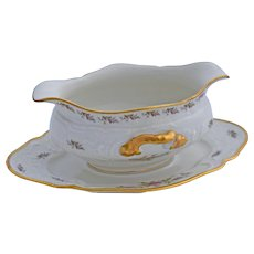 Rosenthal Sanssouci Gravy Sauce Serving Dish Pastorale Pattern Attached Underplate 10 Inches