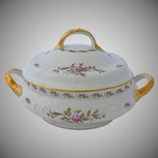 Rosenthal Sanssouci Pastorale Roses Vegetable Covered Serving Dish 6.50 by 10.50 Inches