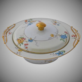 Vintage Limoges France Riviera Covered Vegetable Serving Bowl by Bernardaud