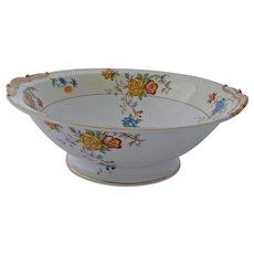 Vintage Limoges Bernardaud Riviera Round Pedestal Vegetable Serving Bowl