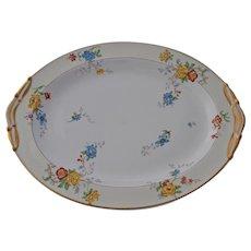 Vintage Limoges Bernardaud Riviera Meat Serving Platter Large Oval Dish