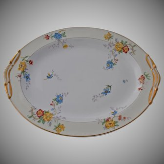 Vintage Limoges Bernardaud Riviera Meat Serving Platter Large Oval Dish