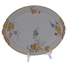 Vintage Limoges Bernardaud Riviera Oval Serving Dish Platter 10.50 Inches