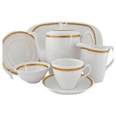 Vintage Spode Elizabethan Y7842 Dessert Service Coffee Tea Pot Sugar Creamer Serving Tray 1962-71