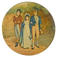 Vintage Advertising English Biscuit Tin by Huntley and Palmers Two Strings to Her Bow