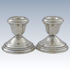 Vintage Gruen Sterling Silver Candlesticks Candle Holders