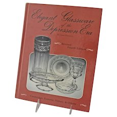 Elegant Glassware Depression Era Book by Gene Florence 4th Edition Copyright 1991 Signed