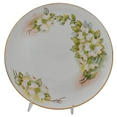 Hutschenreuther Selb Bavaria Cabinet Cake Serving Plate or Platter Hand Painted German White Porcelain