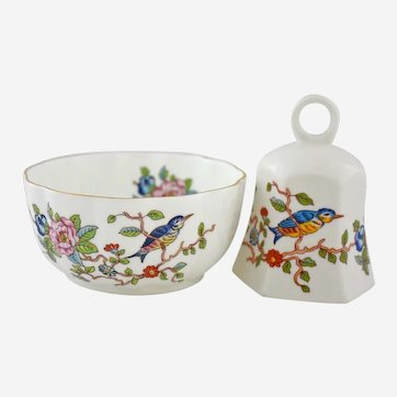 Vintage Pembroke by Aynsley Decorative Bell and Bowl 18th Century Asian Design
