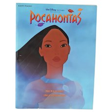 Pocahontas Sheet Music Easy Piano Book Copyright 1995 Lyrics Artwork