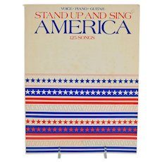 Stand Up And Sing America 125 Songs Book Sheet Music Voice Piano Guitar