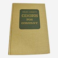 Vintage Cookbook Helen Corbitt Cooks For Company Copyright 1974 Entertaining Menus Seasonal Holidays