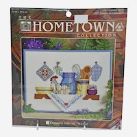 Vintage Cross Stitch Kit 5337 Country Shelf The Hometown Collection circa 1996