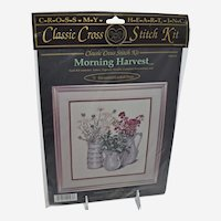 Vintage Counted Cross Stitch Kit Morning Harvest by Cross My Heart Inc. 1996 Sealed