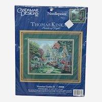 Vintage Needlepoint Kit Victorian Garden II 30888 Thomas Kinkade Painter of Light Candamar Designs 1997