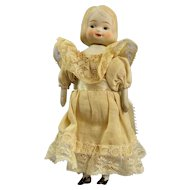 Rare Swivel Neck Japan Doll, Great Dress!