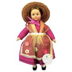 All Original Lenci Celluloid Doll, Tag