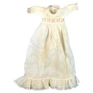 Dainty Long Lace-Trimmed Doll Dress
