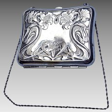Nouveau Lily Silverplate Purse