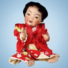 Kestner All Bisque  Asian Baby, Swivel Neck, Sleep Eyes
