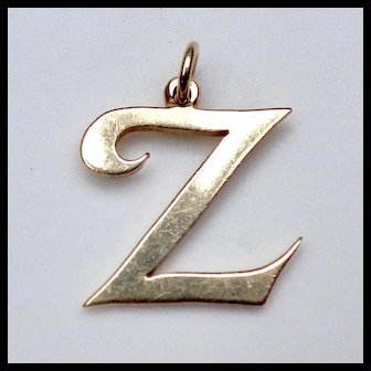 """Large 14k James Avery """"Z"""" Initial"""