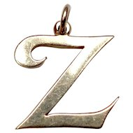 "Large 14k James Avery ""Z"" Initial"