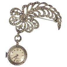 Bucherer Marcasite Watch Pin