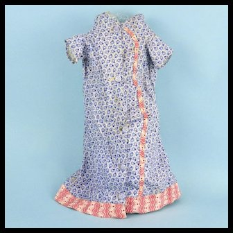Early Hand Sewn Calico Doll Dress