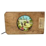 Plank Mechanical Magic Lantern Slide, Children on Seesaw