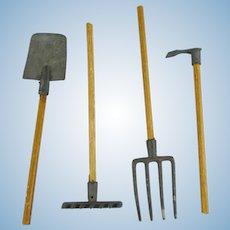 Metal & Wood Mini Garden Tools