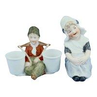 2 Gebruder Heubach Dutch Child Bisque Figurines