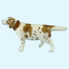 Tiny Hand Carved Bone English Setter