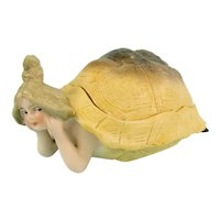 Large Naughty German Bisque Turtle Lady