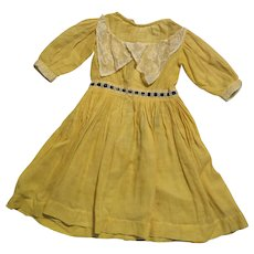 Late 1800s Yellow Cotton Doll Dress for 20-22 inch - Red Tag Sale Item