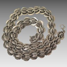 Necklace Sterling Silver Victorian Bookchain 15 inches