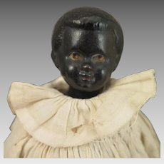 Antique German Black China Doll 11 inches