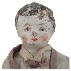 Antique Cloth Boy Doll 7 inches