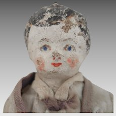 Antique Cloth Boy Doll 7 inches
