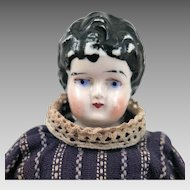 Antique Swedish Gustavsberg China head Doll 8 inches
