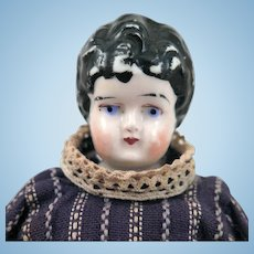 Antique Swedish Gustavsberg China head Doll 8 inches