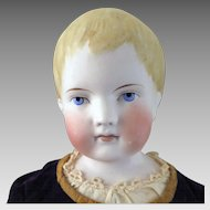 1870s-80s Parian Bisque Boy Doll by C.F. Kling 22 inches
