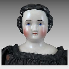 1860s Kestner Flat Top China Doll All Original 15 inches