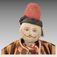 Antique Turkoman Turkmens Cloth Man Doll 18 inches