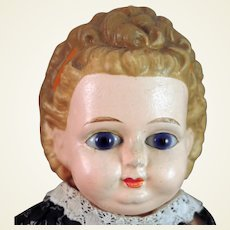 1870s Wax over Papier Mache Doll 24 inches