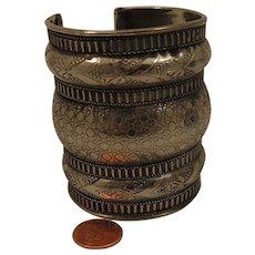 Wide Vintage Ethnic Cuff Bracelet