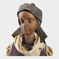 Wood Lady Doll from Austria c. mid 1800s
