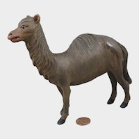 Mid 1800s Wood Camel for Creche