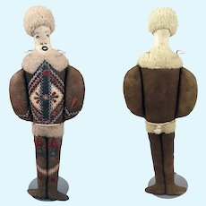"""12"""" Leather Doll from Greenland"""