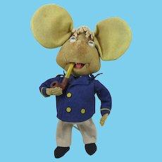 1960s Italian Felt Topo Gigio Mouse Doll 12 inches